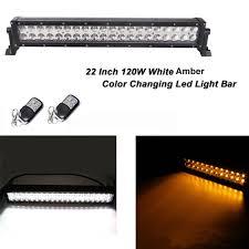Color Changing Led Light Bar For Truck Honzdda Car Led Offroad Light Bar White Amber Color Changing
