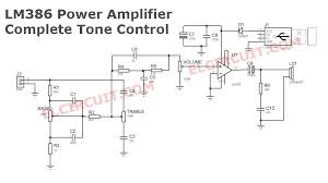 usb powered audio amplifier lm386 tone control audio schematic lm386 power amplifier circuit diagram