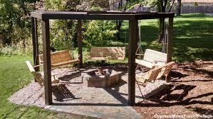 porch swings fire pit circle porch swings patio swings outdoor swings