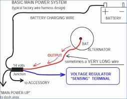 single wire alternator wiring diagram kanvamath org Dual 12V Solenoid Wiring Diagram at Typical 12 Volt Chargign System Wiring Diagram