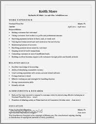 Resume Examples For Restaurant Cashier Luxury Resume Sample
