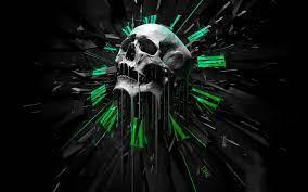 3D Art Skull Wallpaper