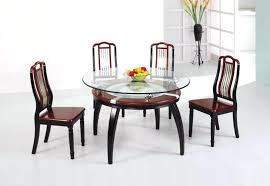 dining glass table set dining room maroon accent on wooden two layer glass dining table set