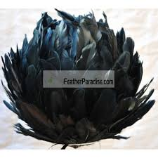 Decorative Feather Balls Stunning Large Black DECORATIVE Feather Balls Rose BallsFlower Balls