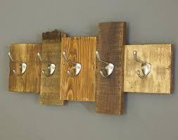 Rustic Wooden Coat Rack Pretentious Cabin Coat Hooks Wooden Rack Reclaimed Wood Decor Wall 63