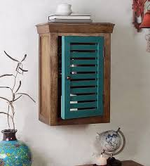 mango wood wall cabinet with door