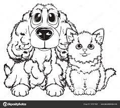 Twee Huisdieren Kleurplaten Stockfoto Tatty77tatty 161917684
