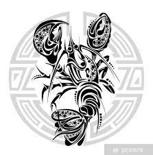 Fototapeta Vinylová Znamení Raka Tetování Design