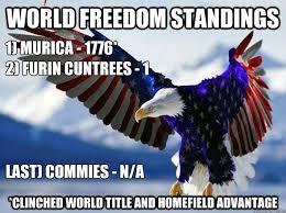 Murica Freedom World Champs memes | quickmeme via Relatably.com