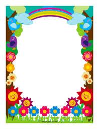 Flowers And Rainbows Border