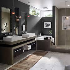 Bathroom Elegant Bathroom Design Ideas Twin White Wasbasin And - Modern bathroom shelving