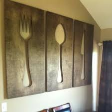fork spoon knife idea from pintrest however made larger for our on large knife fork and spoon wall decor with oversized fork and spoon google search i bought my dream house