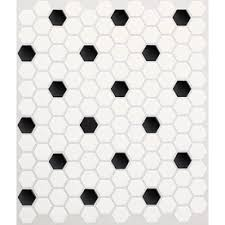 Models Black And White Hexagon Tile Floor Olean Alameda Satin Honeycomb Mosaic Ceramic Wall Design Decorating