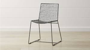 Outdoor metal chair Bistro Target Tig Metal Dining Chair Reviews Crate And Barrel