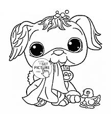 Littlest Pet Shop Funny Dog Coloring Page For Kids Animal Coloring