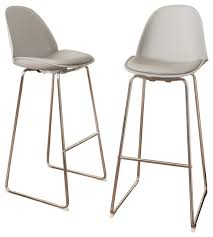 torney contemporary gray bar chairs set of 2