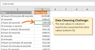Convert Text To Time Values With Formulas Excel Campus