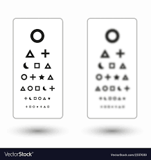 Sharp And Unsharp Snellen Chart With Symbols For