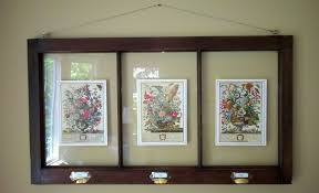 distressed window pane picture frame