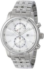 """invicta men s 0248 """"ii collection"""" stainless steel and silver tone silver tone dial bracelet watch invicta mens 0248 ii collection stainless steel and"""