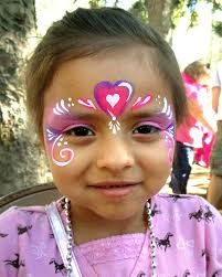 chicago face painting and photography chicago face painter valery lanotte pink heart princess