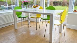 white dining table and coloured chairs trendy 6 dining set white gloss table funky coloured chairs
