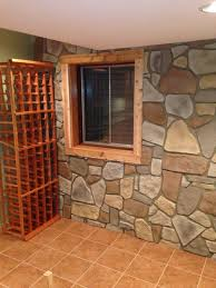 fake stone wall panel in warm earth tones to add instant eal its