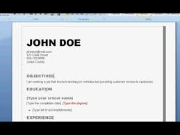How To Make An Resume Simple How to Write a Good Resume YouTube