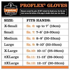 Large Gloves Size Chart Ergodyne Sizing Information