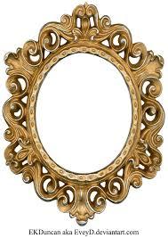 frame. Vintage Gold And Silver Frame - Oval By EveyD