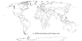 printable whitetransparent political blank world map c  free