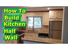 diy how to build half wall knee wall open concept kitchen remodel you