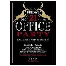 Corporate Holiday Party Invite Elegant Gold Reindeer Corporate Holiday Party Invitations