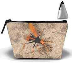 amazon tzoidal strorege bag wasps spider makeup pouch durable travel bag with zipper beauty
