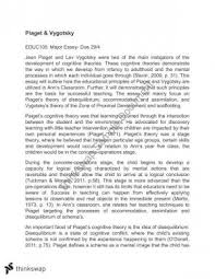 educ education the psychological context thinkswap piaget and vygotsky essay