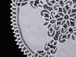 white round battenburg lace table topper 36 inch larger image