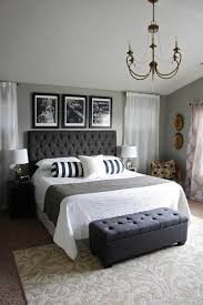 beautiful master bedrooms. Master Bedroom Grey With Black And White Accents Beautiful Bedrooms O