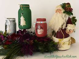 Mason Jar Decorations For Christmas Christmas Mason Jar Craft 34