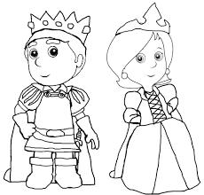 Disegno Di Il Principe E La Principessa Da Colorare Per Bambini
