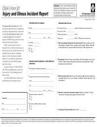 Best Photos Of Osha Employee Injury Report Form Osha