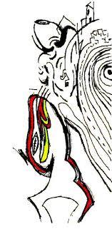 original pop art sport drawings from italy