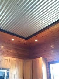 corrugated ceiling rustic beams metal trim corner for