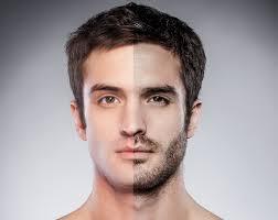 shaved vs 5 o clock shadow stubble beard