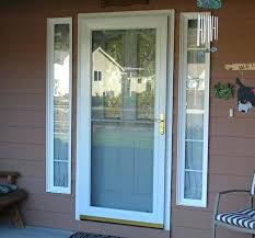 wood storm door with glass self storing full view storm door wood storm door glass