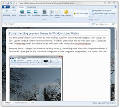Fixing the blog preview theme in Windows Live Writer -- Johan ...