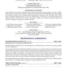 Sample Lvn Resume Cv Cover Letter Crna Inside Licensed Practical