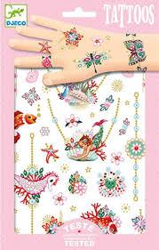 Dětská Sada Tetování Djeco šperky Skibi Kids