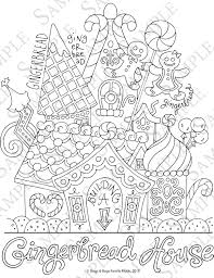 Small Picture Gingerbread House Coloring Pages Good Detailed Gingerbread House