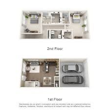 Rates  Floor Plans Townhomes On Blackhawk Landing - Two bedroom townhome