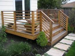 contemporary railing garden u0026 patio simple wood horizontal deck railings with stairs railing the advantages and disadvantages ideas in railing